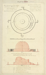 Plan and elevation of Stupa no.2, Sanchi
